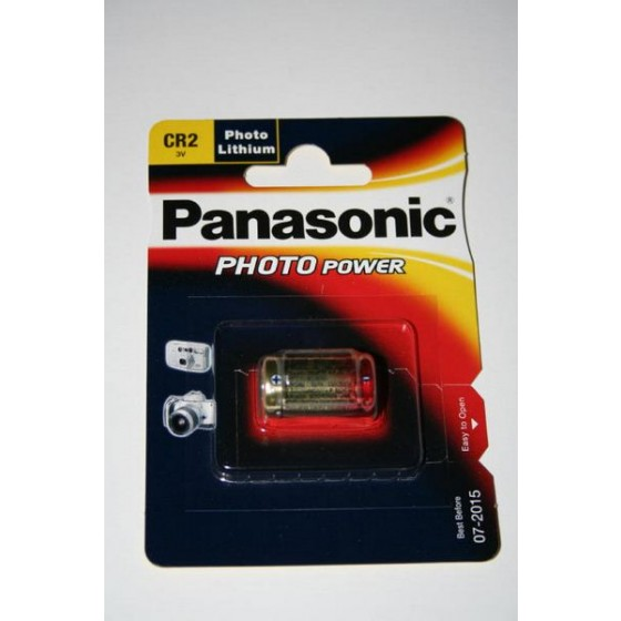 Panasonic CR2  3V Lithium in 1er-Blister