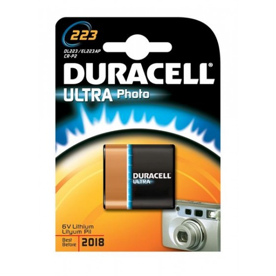 Duracell DL223 Ultra (CR-P2) 6V Lithium 1er-Blister