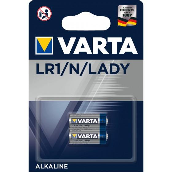 Varta Lady 4001 101 402 Professional in 2er-Blister (522/LR1/N/AM5)