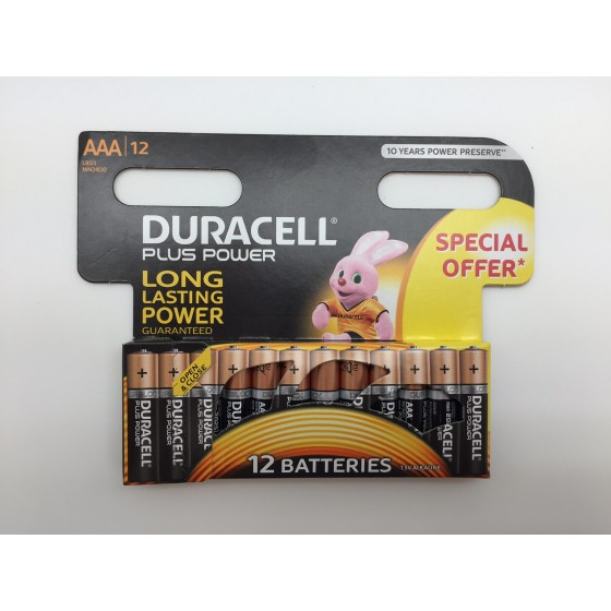 "Duracell Micro MN2400 Plus Power Duralock in 12er-Blister ""Special offer"""