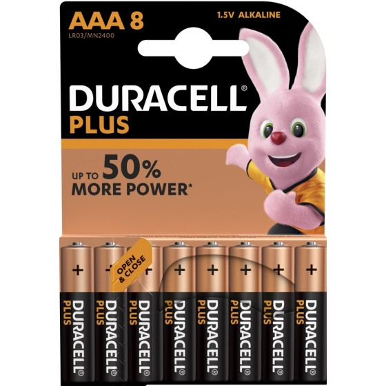 Duracell Micro MN2400 Plus Power Duralock in 8er-Blister