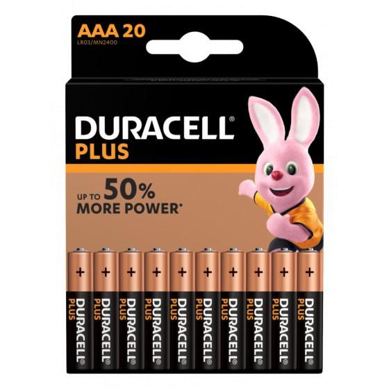 Duracell Micro MN2400 Plus Power (wiederverschließbar) in 20er-Blister