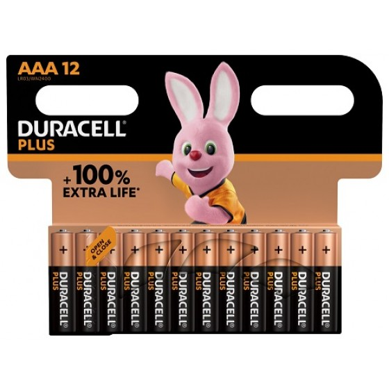 Duracell Micro MN2400 Plus in 12er-Blister *+100% EXTRA LIFE*