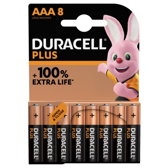 """Duracell Micro MN2400 Plus in 8er-Blister *+100% EXTRA LIFE"""""""