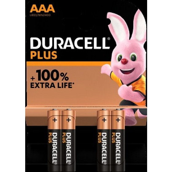 Duracell Micro MN2400 Plus in 4er-Blister *+100% EXTRA LIFE*