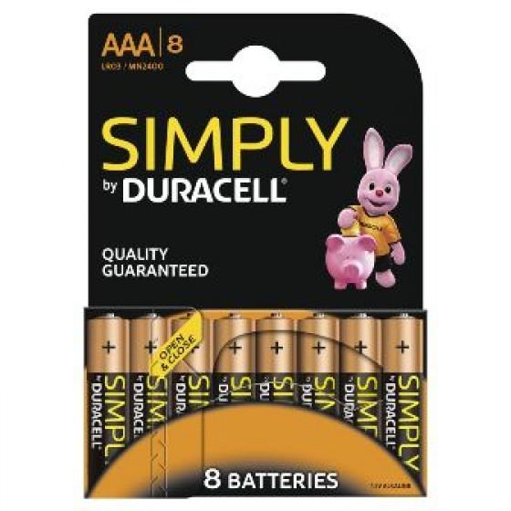 Duracell Micro MN2400 Simply in 8er-Blister (wiederverschließbar)