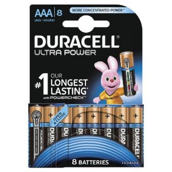 Duracell Micro MX2400 Ultra Power im 8er-Blister mit Powercheck (wiederverschließbar)