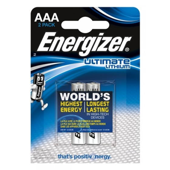 Energizer Micro L92 Ultimate Lithium 1,5V in 2er-Blister