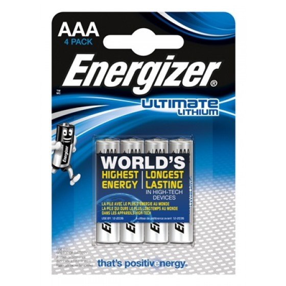 Energizer Micro L92 Ultimate Lithium 1,5V in 4er-Blister