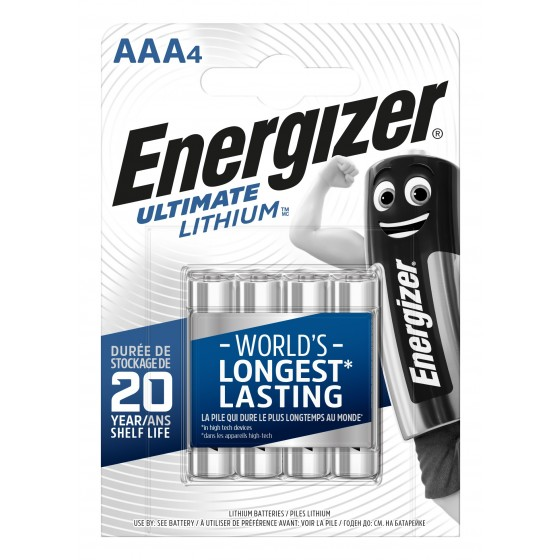 Energizer Micro L92 Ultimate Lithium 1,5V in 4er-Blister
