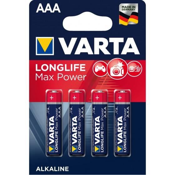 Varta Micro 4703 110 404 LONGLIFE MAX POWER in 4er-Blister -DE-
