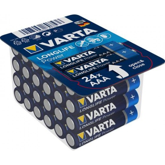 Varta Micro 4903 301 124 LONGLIFE Power Big Box 24erAAA