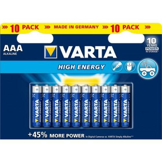 Varta Micro 4903 121 461 HIGH ENERGY in 10er-Blister - DE -