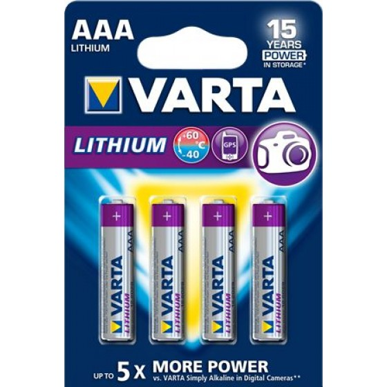 Varta Micro 6103 301 404 Professional Lithium in 4er-Blister
