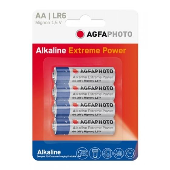 AGFAPHOTO Alkaline Platinum Mignon AA LR6 in 4er-Blister