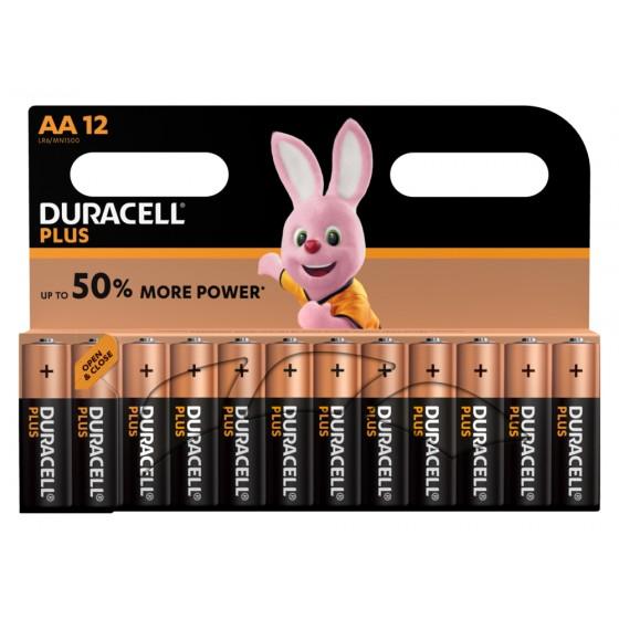 Duracell Mignon MN1500 Plus Power (wiederverschließbar) in 12er-Blister