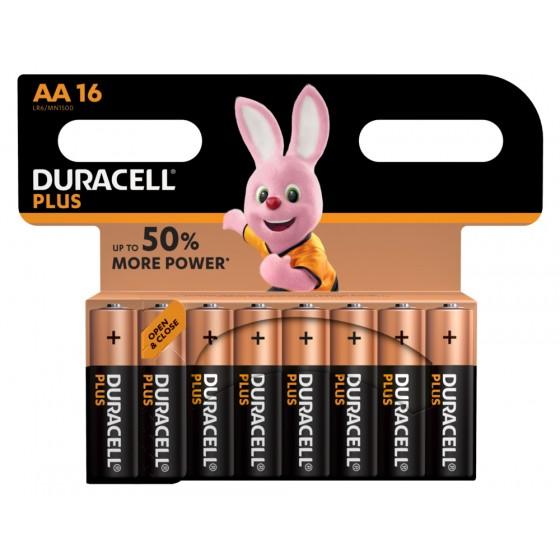 Duracell Mignon MN1500 Plus Power (wiederverschließbar) in 16er-Blister