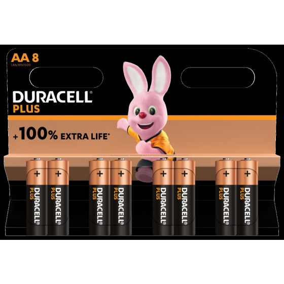 Duracell Mignon MN1500 Plus in 8er-Blister *+ 100% EXTRA LIFE*