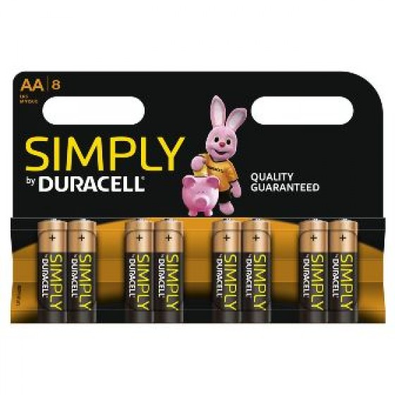 Duracell Mignon MN1500 Simply in 8er-Blister