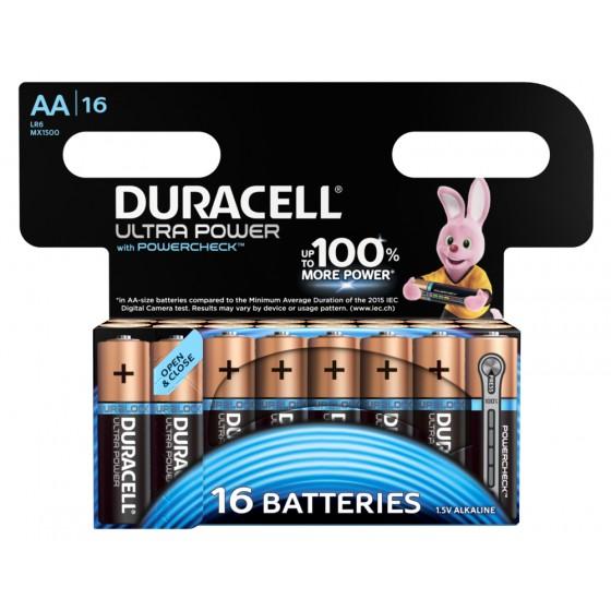 Duracell Mignon MX1500 Ultra Power mit Powercheck (wiederverschließbar) im 16er-Blister