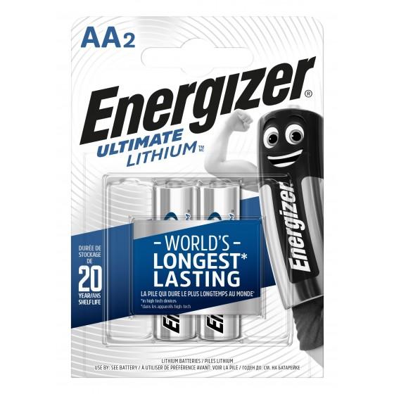 Energizer Mignon L91 Ultimate Lithium 1,5V in 2er-Blister