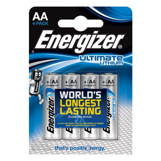 Energizer Mignon L91 Ultimate Lithium 1,5V in 4er-Blister