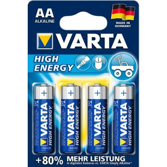 Varta Mignon 4906 110 414 HIGH ENERGY in 4er-Blister -DE-