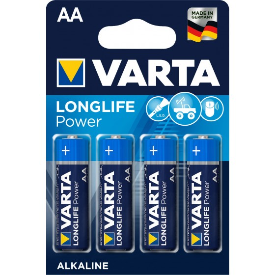 Varta Mignon 4906 110 414 LONGLIFE Power in 4er-Blister -DE-