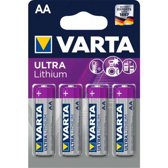 Varta Mignon 6106 301 404 ULTRA Lithium in 4er-Blister