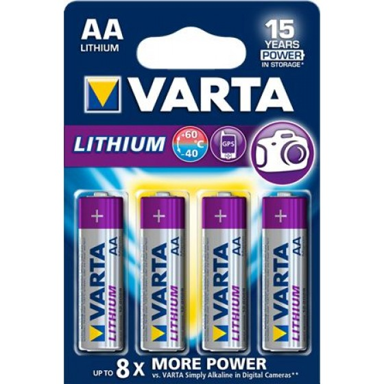 Varta Mignon 6106 301 404 Professional Lithium in 4er-Blister
