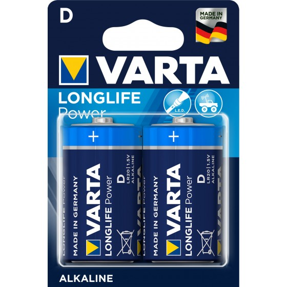 Varta Mono 4920 110 412 LONGLIFE Power in 2er-Blister - DE -
