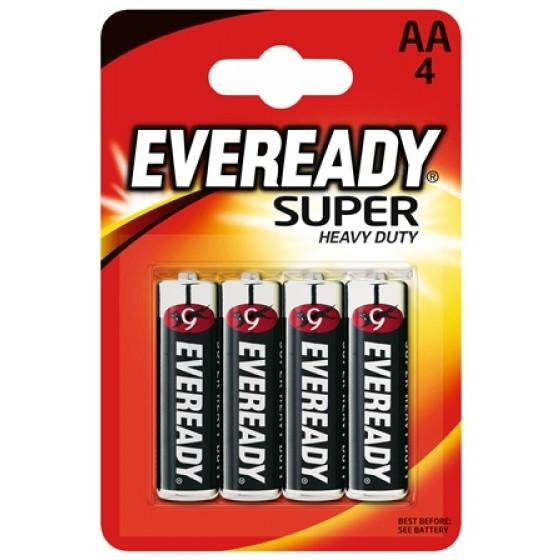Energizer Eveready SHD Kohle-Zink Mignon (AA) 4er Blister