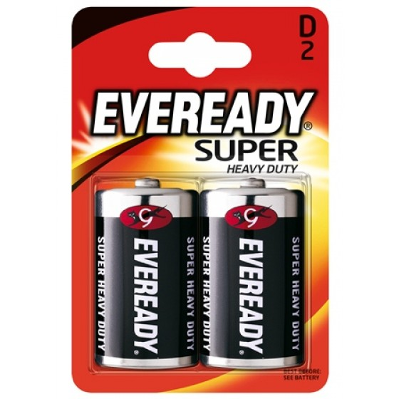 Energizer Eveready SHD Kohle-Zink Mono (D) 2er Blister