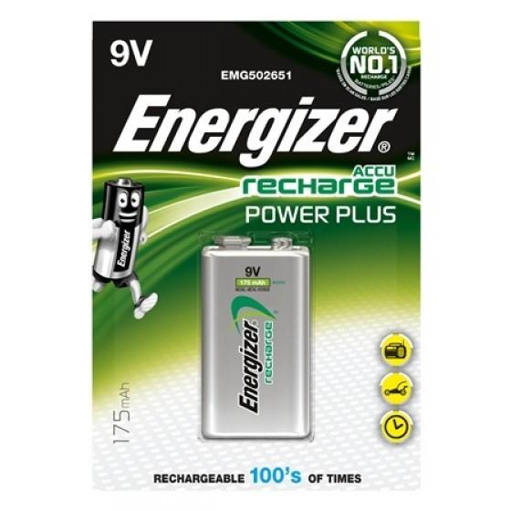 Energizer 9V-Akku Power Plus, 8,4V 175 mAh in 1er-Blister