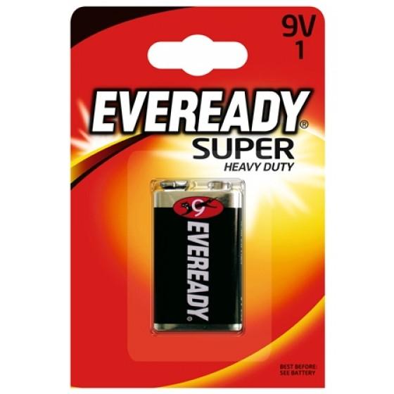Energizer Eveready SHD Kohle-Zink E-Block (9V) 1er Blister
