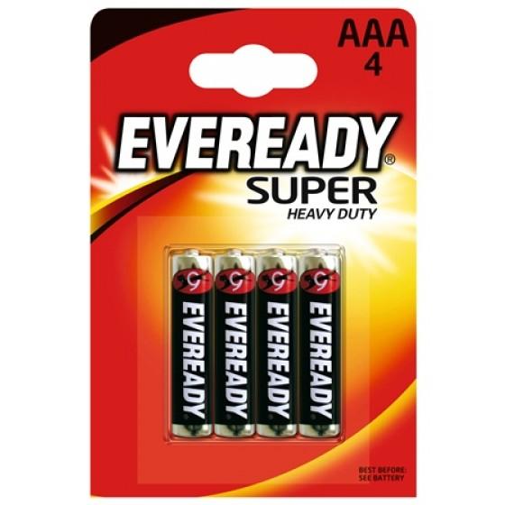 Eveready SHD Kohle-Zink Micro (AAA) 4er Blister