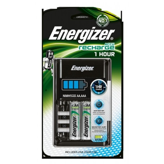 Energizer Ladegerät 1 HR Charger +2AA 2300 mAh 1er Blister