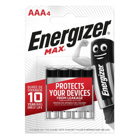 Energizer Max Micro E92 (AAA) in 4er-Blister