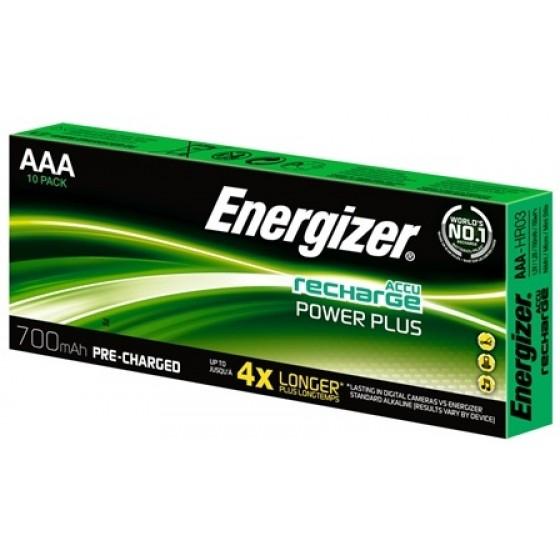 Energizer NiMH Akkumulator Micro (AAA), 700 mAh - Displaypack, vorgeladen 10er Blister