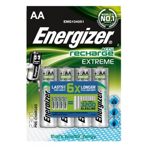 Energizer Mignon-Akku Extreme 2300mAh vorgeladen in 4er Blister