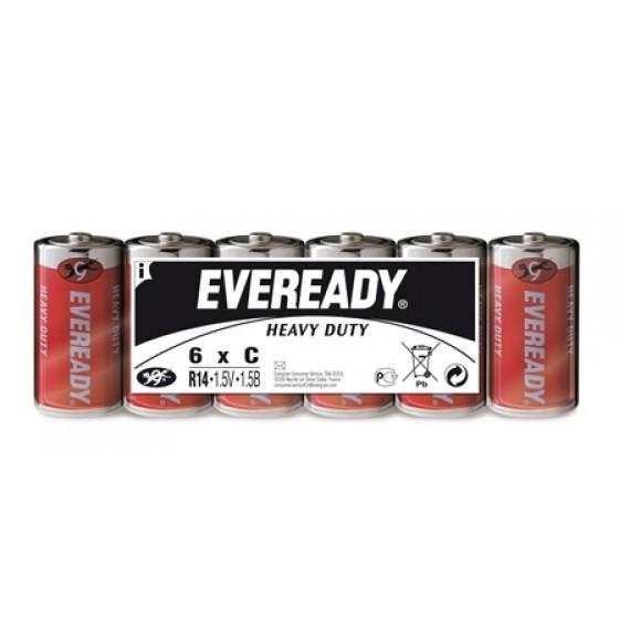 Energizer Eveready SHD Kohle-Zink Baby (C ) Folienpack 6er Blister