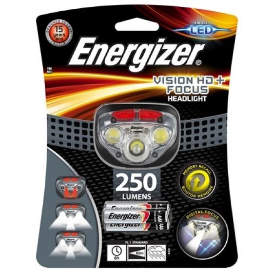 Energizer Kopflampe Vision HD+ Focus inkl. 3 AAA + 20 x AAA / 20 x AA