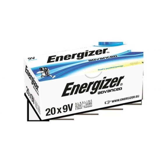 Energizer Advanced 9V E-Block einzeln in 20er-Box