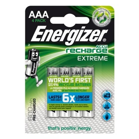 Energizer NiMH Akkumulator Extreme, Micro (AAA) 800 mAh, vorgeladen 2er Blister
