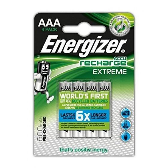 Energizer Micro-Akku EXTREME (AAA) 800 mAh, vorgeladen in 4er-Blister