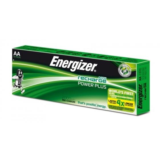 Energizer NiMH Akkumulator Power Plus Mignon (AA), 2000 mAh - Displaypack, vorgeladen 10er Blister