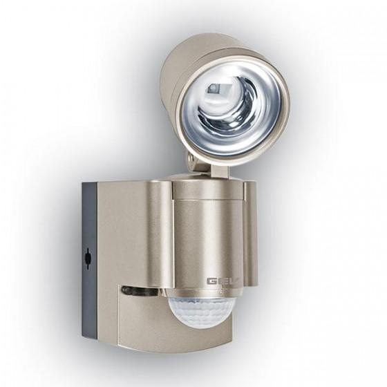 Batterie LED-Spot mit Bewegungsmelder und Alarmfunktion. Batteriebetrieben.