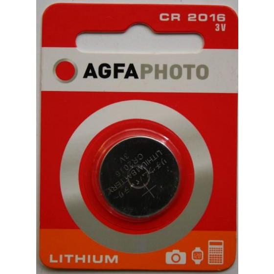AGFAPHOTO CR2016 3V Lithium im 1er-Blister