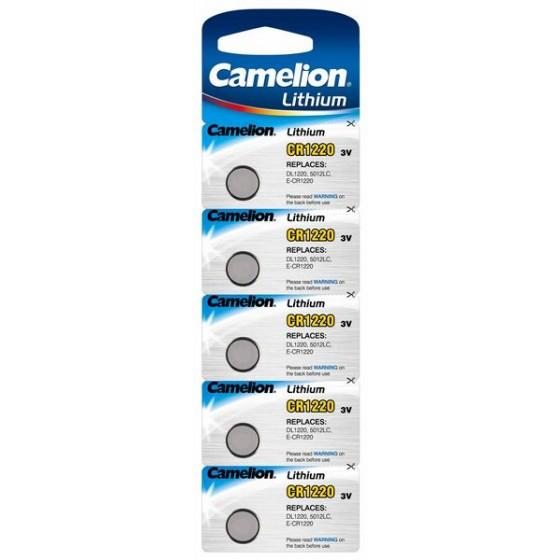 Camelion CR1220 3V Lithium in 5er-Blister