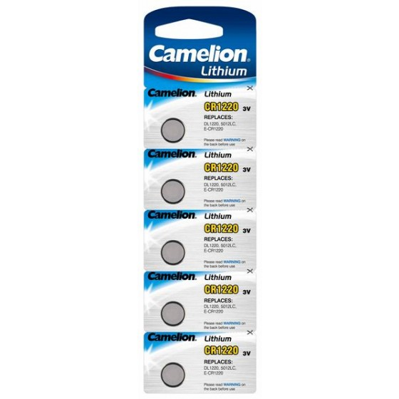 Camelion CR1220 3V Lithium in 5er-Blister